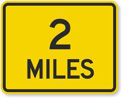 2 miles